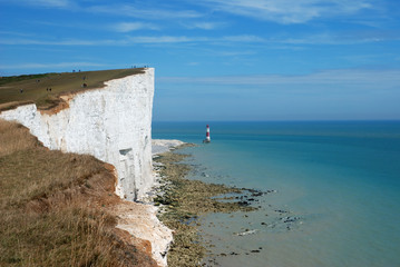 Beachy Head on the white cliffs of Dover.