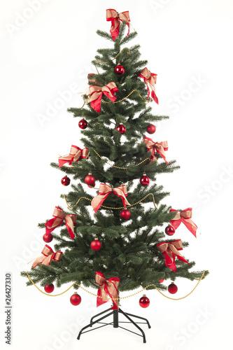 geschm ckter weihnachtsbaum von claudia paulussen lizenzfreies foto 26427330 auf. Black Bedroom Furniture Sets. Home Design Ideas