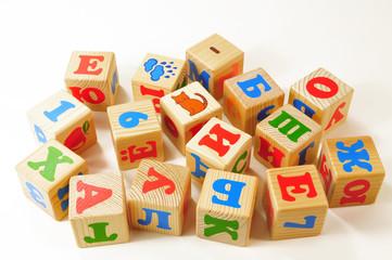 russische Buchstabenwürfel - Buchstaben Würfel