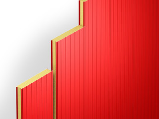 red wall sandwich panels