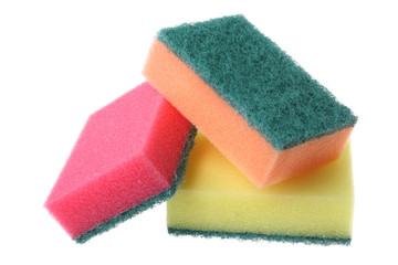 Colored kitchen sponges