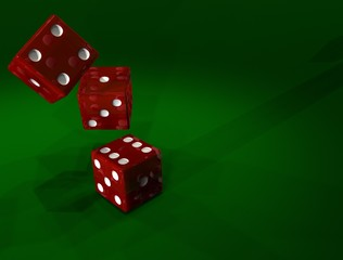 3 Red Dice