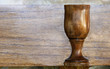 Chalice with Wood Background
