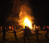 Fototapety Dance around fire