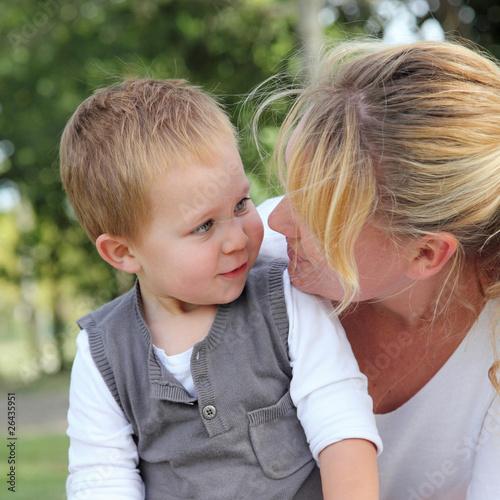 Tendre sourire à maman