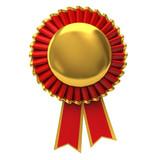 Fototapety Blank award ribbon rosette