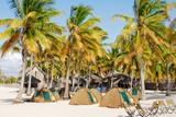 campsite, Pangane Beach poster
