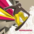 Designed snowboarding banner.