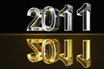 Year 2011 - gold and silver