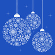 Christmas ornaments made of snowflakes - blue