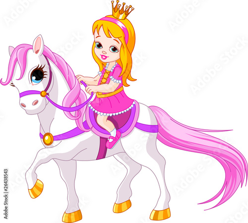 Poster Pony Little princess on horse