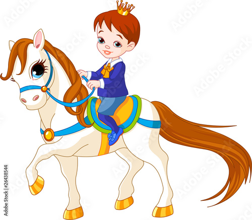 Poster Pony Little prince on horse
