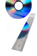 DVD with steel ruler