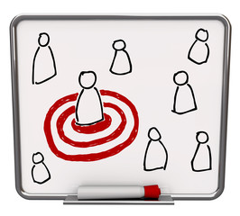 Targeted Person - Dry Erase Board with Red Marker