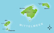 Karte Balearen / vektor