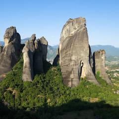 Group Of Rocks In Meteora