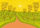 paesaggio e grano