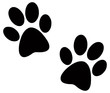 Black paw prints - 26444936
