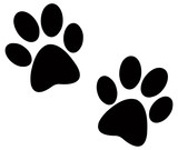 Fototapety Black paw prints