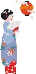 Geisha in blue