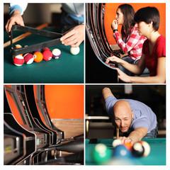 Freizeitbeschäftigung: Spielhalle Collage
