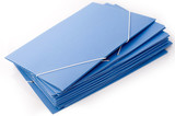 Blue folders with elastic bands poster