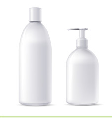 shampoo and soap containers