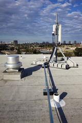 Cellular antenna installed on the roof