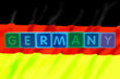 germany and flag in toy block letters
