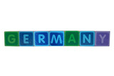 germany in toy block letters