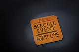 event ticket stub in spotlight poster
