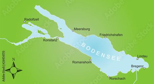 Karte Bodensee / vektor