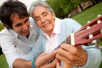 Grandma and grandson