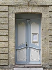 Eingang zum Kirchsaal der Bruedergemeine in Christiansfeld in Da
