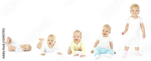 Leinwanddruck Bild vom baby zum kleinkind