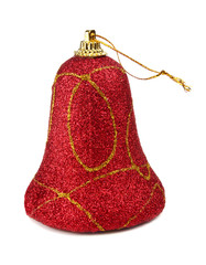 red handbell decoration for a new-year tree