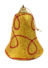 yellow handbell decoration for a new-year tree