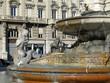 Leinwanddruck Bild - détail de la fontaine de la place des Jacobins, Lyon - France