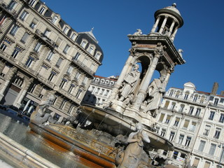 fontaine de la place des Jacobins, Lyon - France