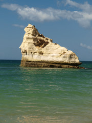 Cliffs at the Algarve coast in Portugal