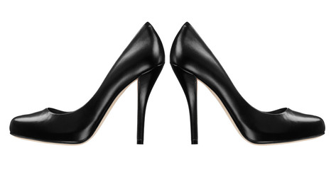 Black women shoe isolated on white background