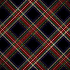 Modern Black Stewart tartan