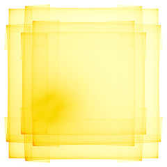 Abstract yellow frame isolated on white