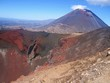 view of Ngauruhoe volcano and volcanic crater - New Zealand