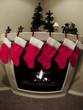 Christmas Stockings and Fireplace