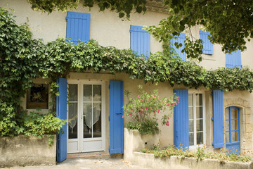 French House with window shutters Provence France