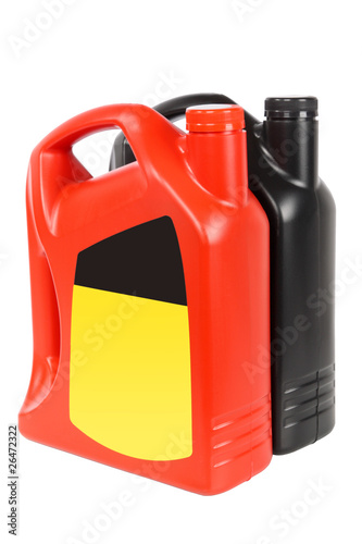 two engine oil bottle