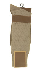 Man Socks with Brown Tag