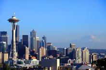 Portraits d'horizon de Seattle, WA. état.
