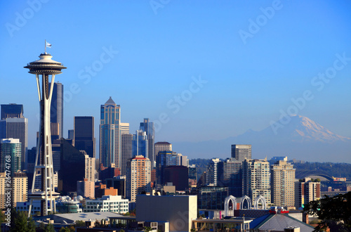 Seattle skyline portraits, WA. state.